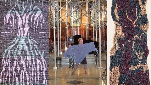 ALLSIDIG: Lisa Daehlin er både operasanger og strikkekunstner. Søndag kan hun møtes på gudstjeneste og kirkekaffe i Lunner.
