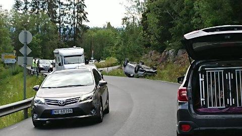 Utforkjøring: Ved 17-tiden i Olumslinna