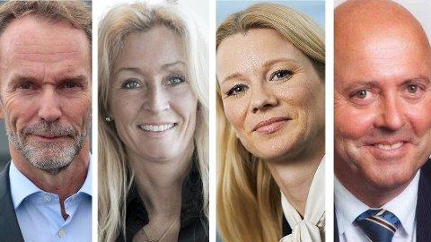 Harald Magnus Andreassen, Grethe W. Meier, Kari Due-Andresen og Miguel Sørholt har skyhøy kompetanse på hva som rører seg i norsk økonomi og det norske boligmarkedet.