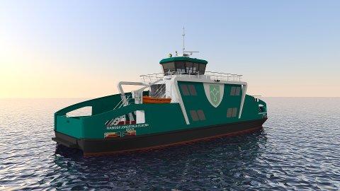Grønn ferje: Fra og med september 2021 vil man kunne kjøre den nye elektriske Randsfjordsferja Elrond mellom Horn og Tangen.