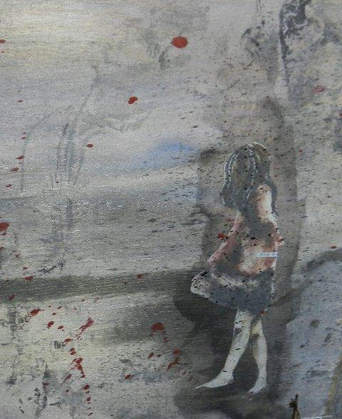 Sterkt: Motivet av denne unge jenta er på skammeboksen.