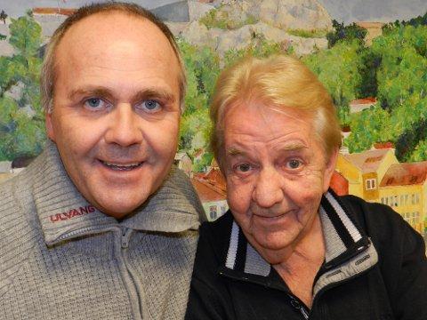 Atle Jensen (tv) og Tor-Erik Gunstrøm kommer sammen til Halden.