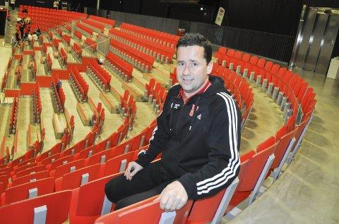 Finaleklar: Ole Gustav Gjekstad i flotte Larvik Arena. Han ser fram til cupfesten i Oslo Spektrum 30. desember. Foto: Kristian Bjørneby