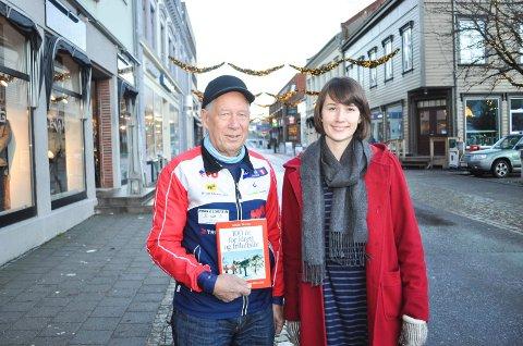Einar Haugen og Ulrikke Andersen skal sammen med resten av redaksjonskomiteen presentere Halden Skiklubbs 125-årige historie på en helt ny måte.