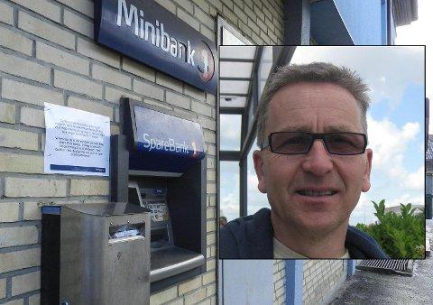 SLUTT: Fra 2. februar forsvinner denne minibanken fra Tistedal sentrum, og det samme skjer på Låby.