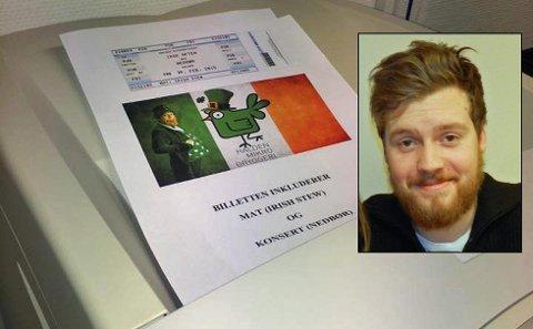 UTSOLGT: Håvard Dahle ved Halden Microbryggeri kan fortelle om masiv pågang på billettene til irsk aften lørdag 21. februar. Nå legger de ut billetter til fredagen også.