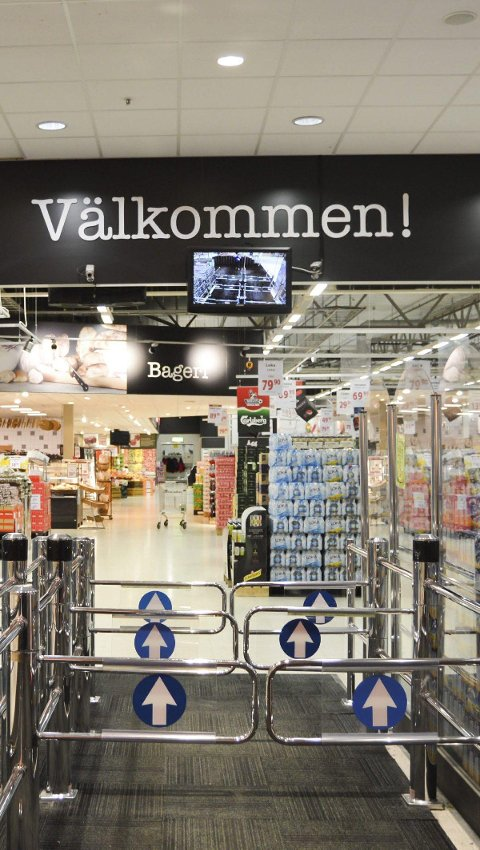 POPULÆRT STED: MaxiMat på Nordby har mange trofaste kunder.
