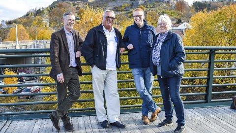 Fornøyd kvartett: Geir Helge Sandsmark, Per Egil Evensen, Fredrik Holm og Anne-Kari Holm er godt fornøyd med sin nye samarbeidsavtale. Foto: Thomas Lilleby