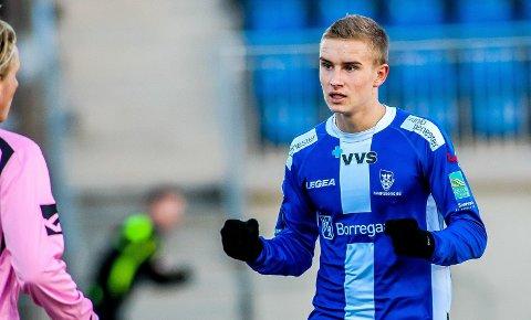 TIL KVIK?: Martin Hoel Andersen, 19-åringen som har TTIF som moderklubb og nå spiller i Sarpsborg 08, er aktuell for utlån til Kvik Halden.