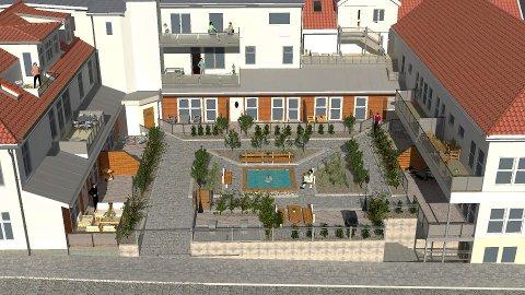 LILLETORGET: Planer for 10 nye leiligheter i 1. etasje.