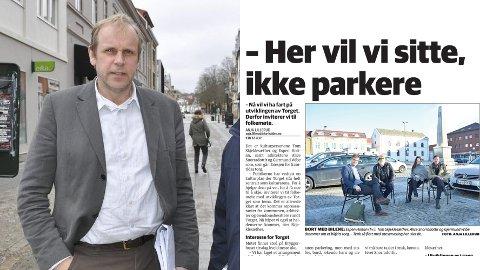 REAGERER: Ole Kristian Sørlie har lite til overs for forslaget om å gjøre Torget bilfritt.