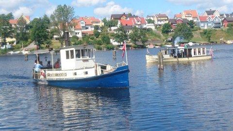 TREFF: Veteranbåtene samlet seg i Tistedal.