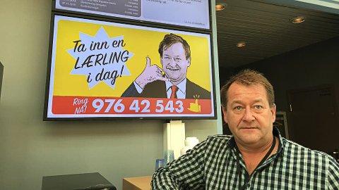 LÆREPLASSER: Magne Hagen er ny læreplassjeger i Østfold