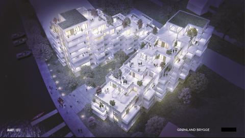 NØYE PLANLEGGING: Trond Østby presenterte i fjor sine planer for utbyggingen av Grønland brygge langs Tista, med spennende og gjennomtenkte illustrasjoner.
