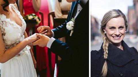 BRYLLUP: Skal du i bryllup men vet ikke hvor mye du bør gi i gave? - Gi etter lyst og lommebok, mener forbukerøkonom Silje Sandmæl. Foto: Colourbox/Mediehuset Nettavisen