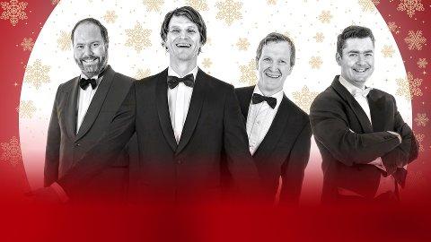 Tenorane & Steffen Horn har sekken full av julestemning med seg til Halden