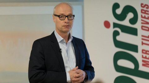 EUROPRIS-TOPP: Pål Wibe er sjef for Europris og forvarer tidlig julesalg.