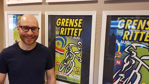 ARRANGØR: Vegard Halvorsen, daglig leder i Grenserittet, inviterer til en miniutgave av sykkelrittet 6. september.