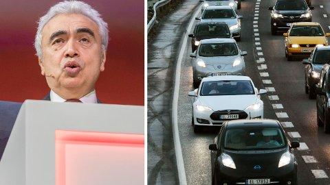 Dr. Fatih Birol, direktør for Det internasjonale energibyrå (IEA), mener det blir helt feil å tro at elbiler kan løse klimaproblemene. Samtidig er han imponert over Norges interesse for elbiler.