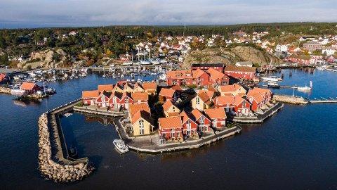 Skjærhalden Sjøbuer utgjør en stor del av sentrumsområdet på Skjærhalden. Eierne varsler nå at de ønsker seg bort fra utleiekonseptet.