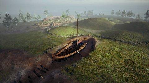 Nå skal vikingskipet som ligger nedgravd i Halden graves opp. Regjeringen bidrar med over 15 millioner kroner til prosjektet.