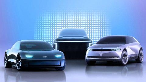 Slik avslører Hyundai det som skal bli til en nye familie av elbiler, under navnet Ioniq.