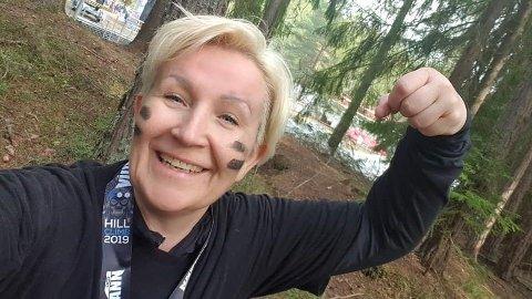 TRENINGSGLAD: Nina Albertsen (54) har gått ned omkring 35 kilo - mesteparten etter at hun droppen slankekurene.
