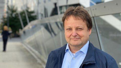 NY FABRIKK: Jan Gunnar Mathisen i Miris setter snart første spadetak på en smittevernfabrikk i Halden.
