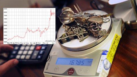 Har du vurdert å selge gammelt sølv kan du nå få en bedre pris enn på mange år. Men mange tror sølvprisene vil fortsette å stige.