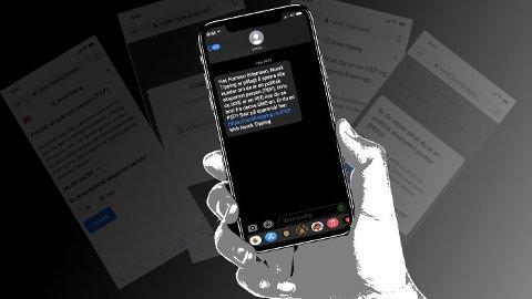 Denne tekstmeldingen har blitt sendt til flere hundre tusen personer.