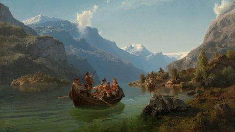 """Halden fengsel er ett av stoppestedene for Nasjonalmuseets utradisjonelle kunstturné i Norge i år. De innsatte får ta glede i Tidemand og Gudes """"Brudeferd i Hardanger""""."""