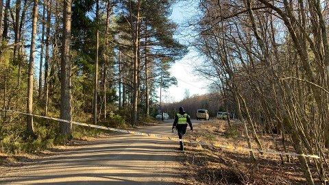 Politiet sperret av et område ved Skriverøya. Arkiv. Foto: Trine Bakke Eidissen
