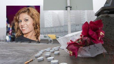 Oslo  20151218. Blomst og lys er lagt ned for å hedre drapsofferet Galina Sandeva (28) fra Bulgaria. Hun var en del av prostitusjonsmiljøet i Oslo. Hun ble funnet død i sin egen bil torsdag. Foto: Terje Bendiksby / NTB scanpix