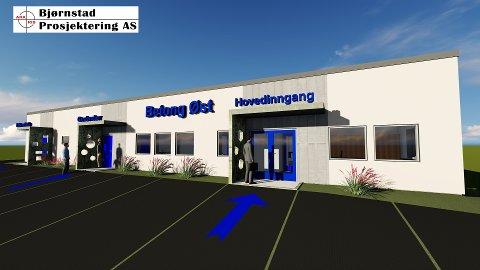 BYGGER: Illustrasjon av Betong Østs nye regionkontor på Hamar.