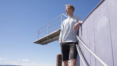 I HAMAR: «Alt for Norge»-programleder Fridtjof Nilsen på stupetårnet i Hamar.