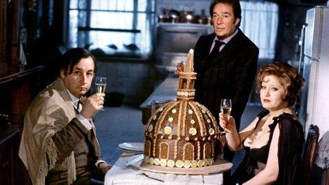 MØRKT: «La grande bouffe» (Etegildet) fra 1973 beskrives som mørk og humoristisk reise inn i menneskets dekadanse.