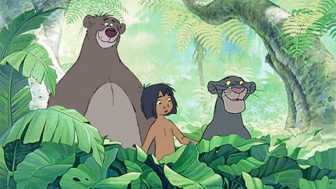 INNLANDET: Baloo, Mowgli og Bagheera fra Disneys «Jungelboken» i 1967.