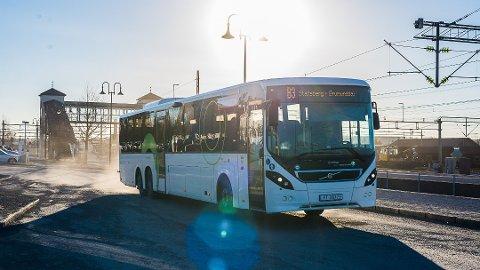 IKKE ODDEN: Det går busser i alle retninger i Hamar, og inn og ut av byen, men ingen går til Domkirkeodden. Og slik vil det nok forbli.