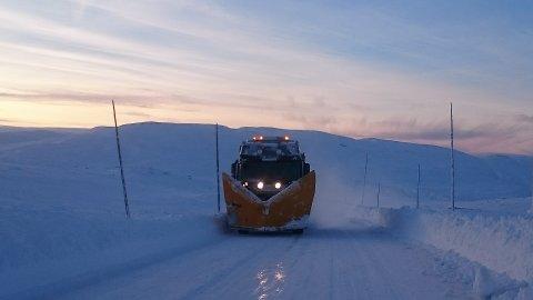 Rv. 7 Hardangervidda. Brøyting vinterveg