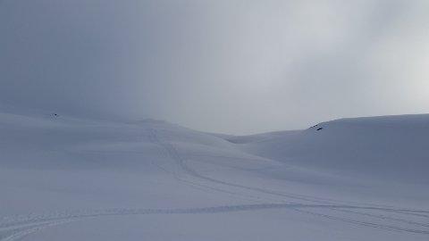 Vekslende værforhold på fjellet.
