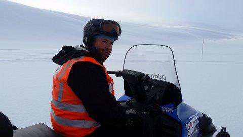 Hjelpekorpsene har vært i aksjon flere ganger de siste dagene. Her ser vi Per Magne Eikeland.