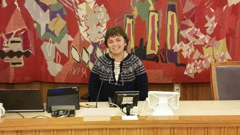 Møteleder: Marit Backer-Owe (KrF) under det historiske møtet i driftskomiteen 7. november.