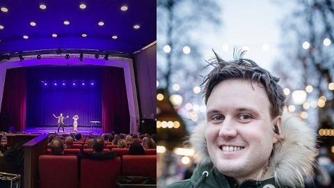 Trakk fulle hus: Kevin Vågenes og resten av humorgallaen i Odda ble en suksess som trakk nesten 900 publikummere til Odda kino denne helgen.