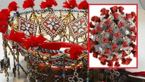 Brurekrune: Denne vakre perlekruna er frå Rogdo,  Foto: Hardanger folkemuseum