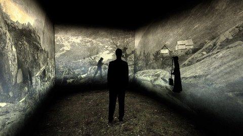 NY TEKNOLOGI: Kraftmuseet tar i bruk ny formidlingsteknologi for å visa fram bilda til Knud Knudsen.