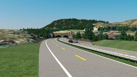 Illustrasjonsfoto Rogfast. Mot tunnnelen ved Laupland, Bokn - retning sør.