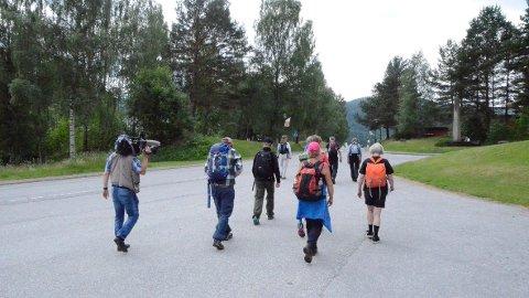 NI DAGER: Pilegrimsvandringen fra Seljord til Røldal går over ni  dager. Foto: Privat