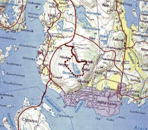 kart tysvær Kart Over Tysvær   Kart