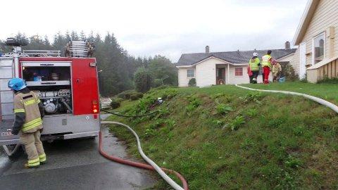 Totalskadd: Den kommunale leiligheten i en tomannsbolig i Høgåsvegen i Kopervik ble totalskadd i brannen.