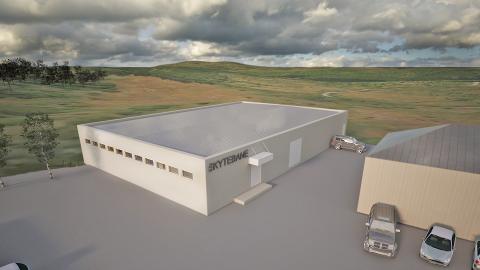ÅPNER TIL HØSTEN: Slik blir den nye skytehallen på Kalland. Illustrasjon: PDS Protek - arkitektavdelingen